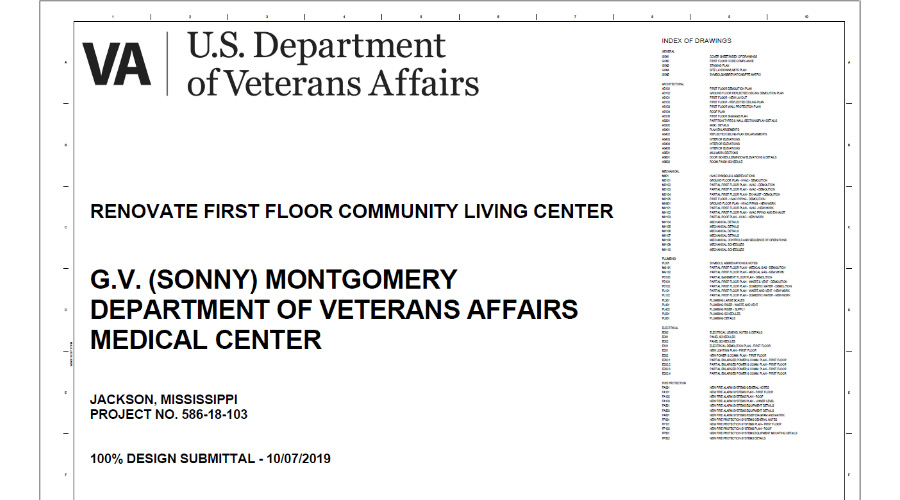 "G.V. (""Sonny"") Montgomery VAMC Renovate 1st Floor Community Living Center"
